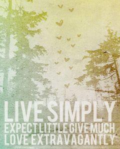 LIVE SIMPLY WEB